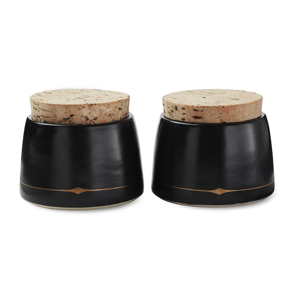 Palm Desert Cellars in Black with Cork Stoppers and Gift Box