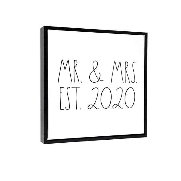 "Rae Dunn Artisan Collection ""Mr. & Mrs. est. 2020"" Canvas Frame"