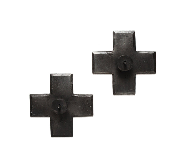 Icon Black Taper Candle Holders, Set of 2