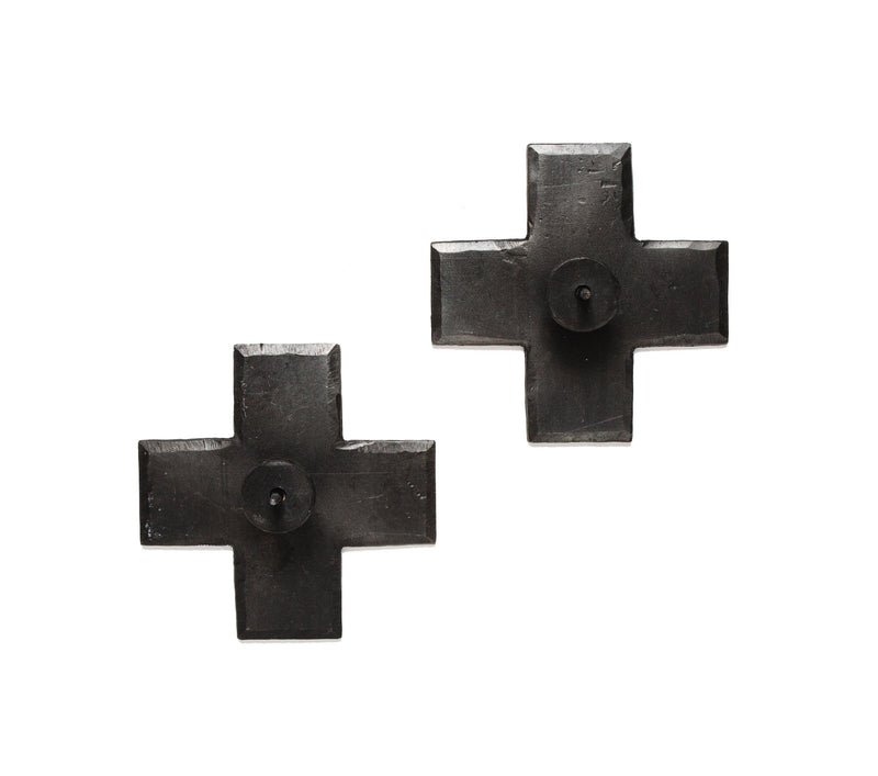 Icon Taper Candle Holders Black, Set of 2