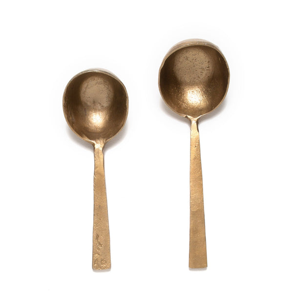 French Roast Coffee Scoops in Bronze, Set of 2