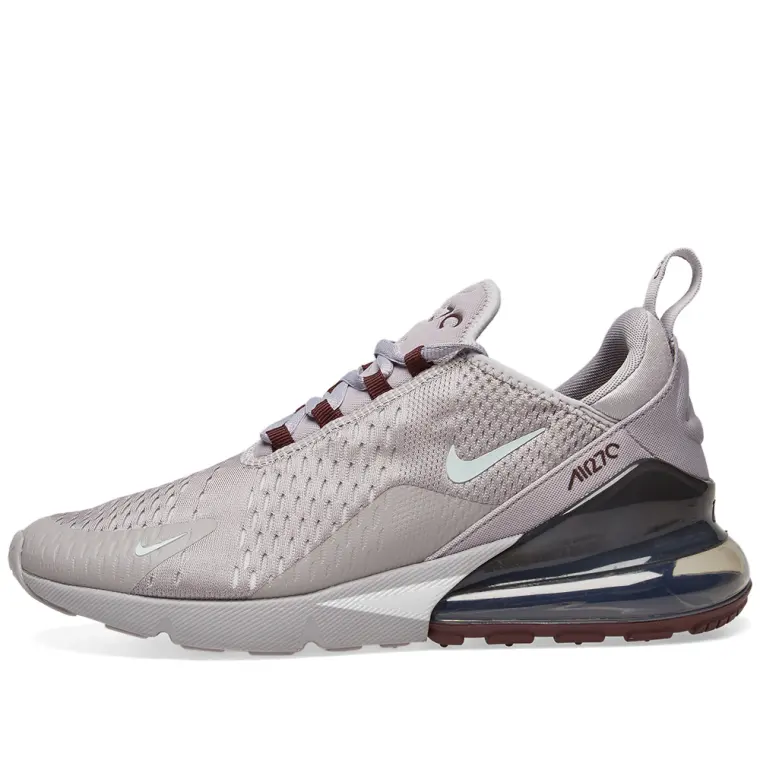 fd3ecdf9900e6 Nike Air Max 270 - Silver Grey Burgundy – Workout Crew Athletic Online