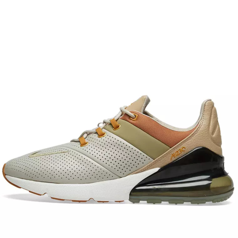 Nike Air Max 270 Premium - Grey / Silver / Burgundy - Workout Crew Athletic Online