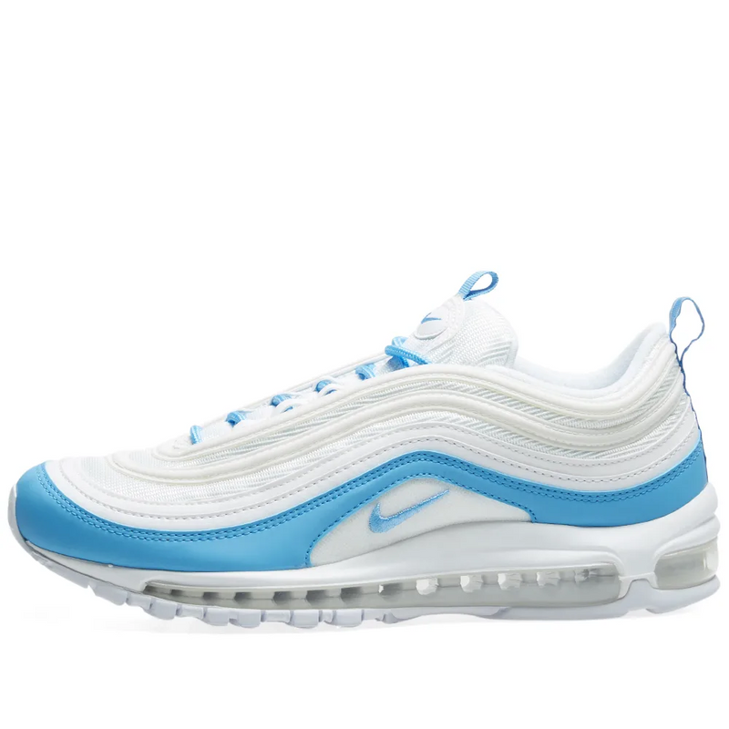 Nike Womens Air Max 97 Essential - White/blue - Workout Crew Athletic Online