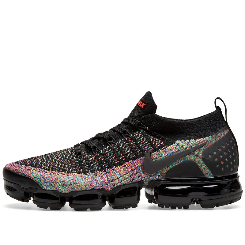 Nike Womens Air Vapormax Flyknit 2 - Black/Pink Blue & Jade - Workout Crew Athletic Online