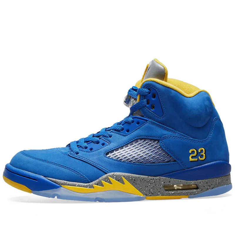 Air Jordan 5 Retro Laney - Varsity Royal/Maize - Workout Crew Athletic Online