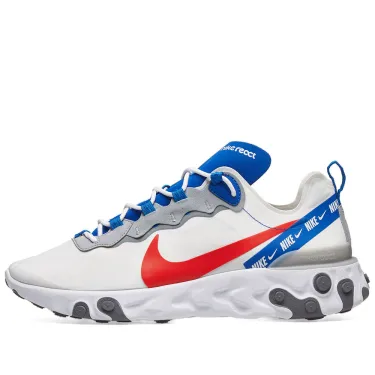 Nike React Element 55 - White/Red/Royal - Workout Crew Athletic Online