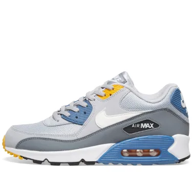 Nike Air Max 90 Essential - Grey/Indigo/Gold - Workout Crew Athletic Online