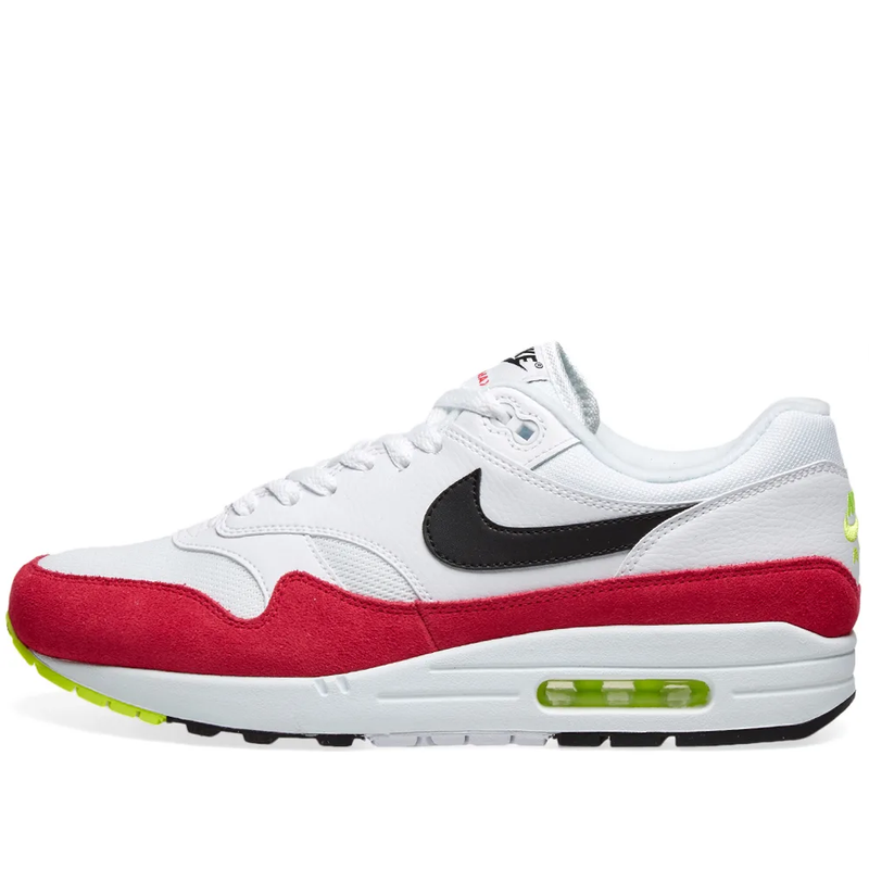 Nike Air Max 1 - White, Black, Volt & Rush Pink - Workout Crew Athletic Online