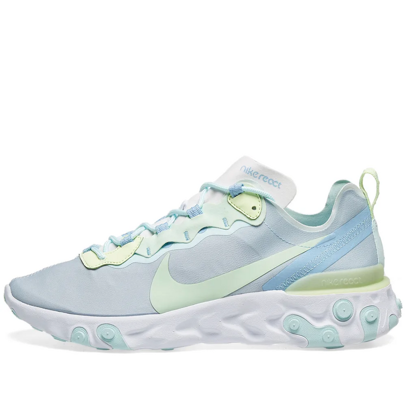 Nike Womens React Element 55 - White/Spruce & White