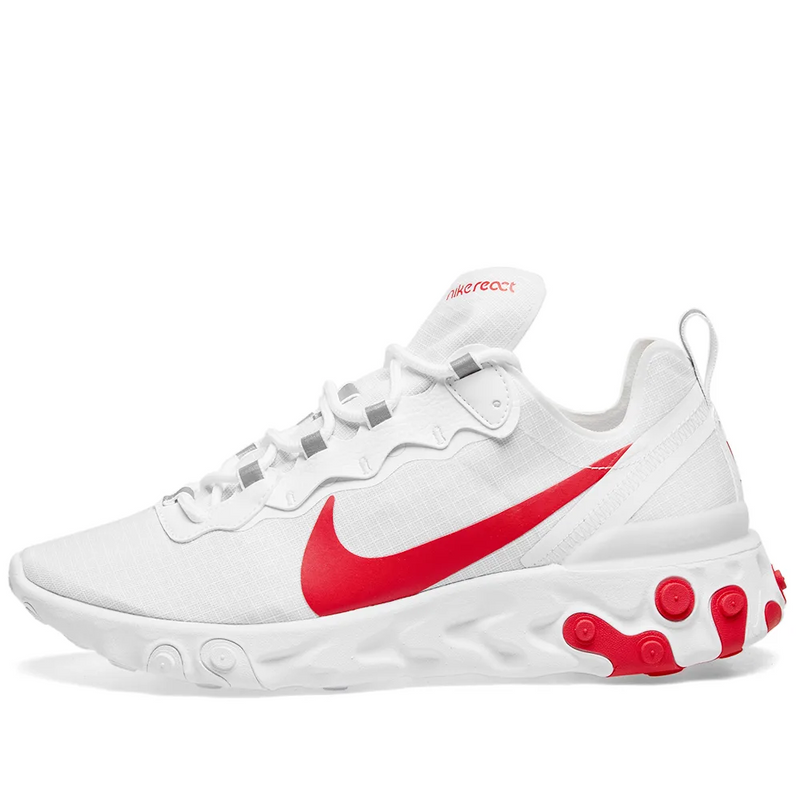 Nike React Element 55 SE - White/Hyper Crimson - Workout Crew Athletic Online