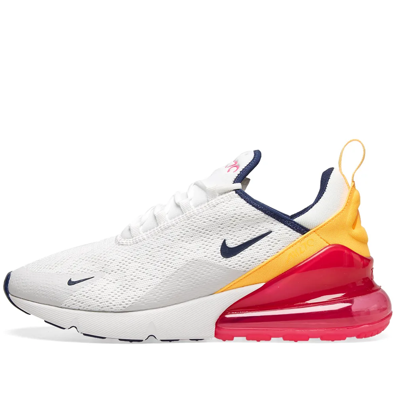 Nike Womens Air Max 270 - White, Navy & Fuchsia