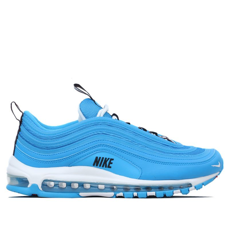764293a985aa Nike Air Max 97 Premium - Blue White Black Red. Workout Crew Athletic Online  ...