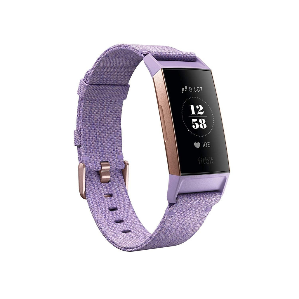 Fitbit Charge 3 Heart Rate Monitor & Activity Tracker Special Edition Lavender/Rose Gold - Workout Crew Athletic Online