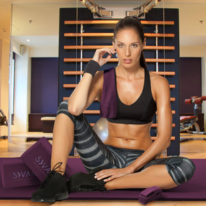 Sivan Purple 6-piece Yoga Set