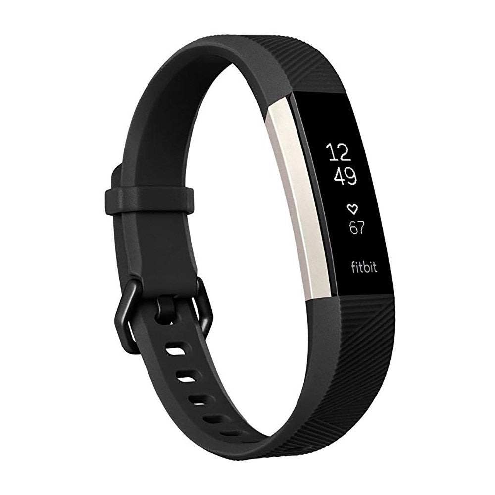 Fitbit Alta HR Fitness Tracker & Heart Rate Monitor Black Large - Workout Crew Athletic Online