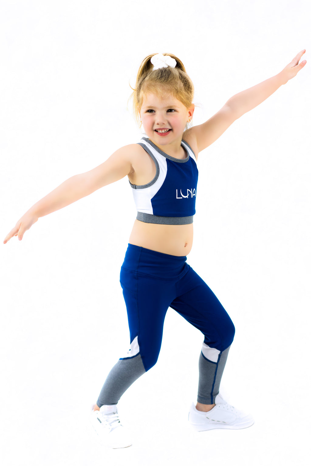 "Luna Active Kids Sports Crop ""Over The Moon - Just Like Mum"""