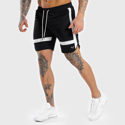 Squat Wolf Mens Hype Short Black With White Panels