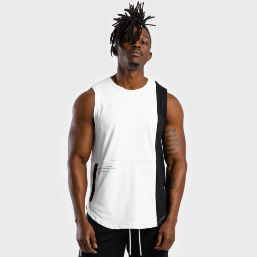 Squat Wolf Hype Tank White With Black Panel