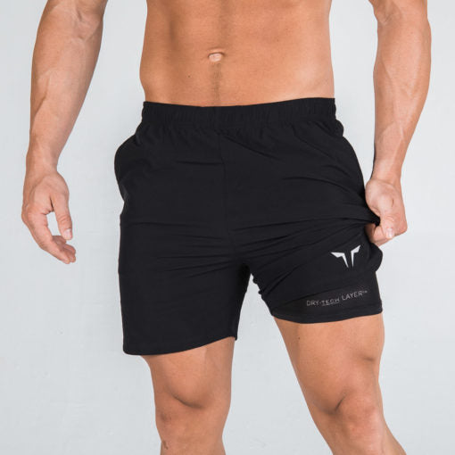 Squat Wolf 2 in 1 Dry Tech Shorts Black