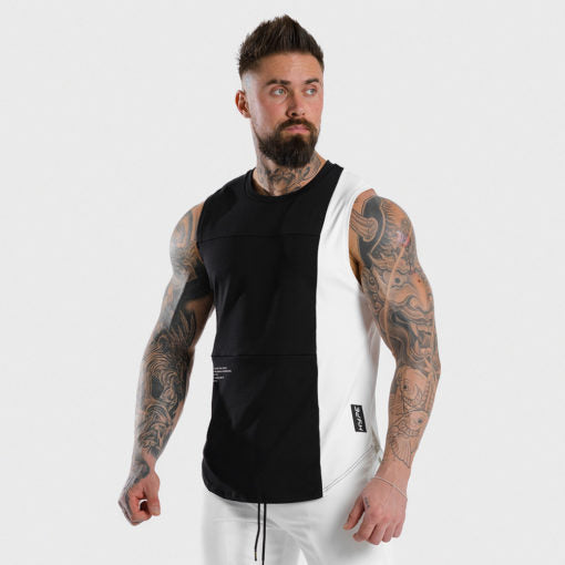 Squat Wolf Hype Tank Black With White Panel
