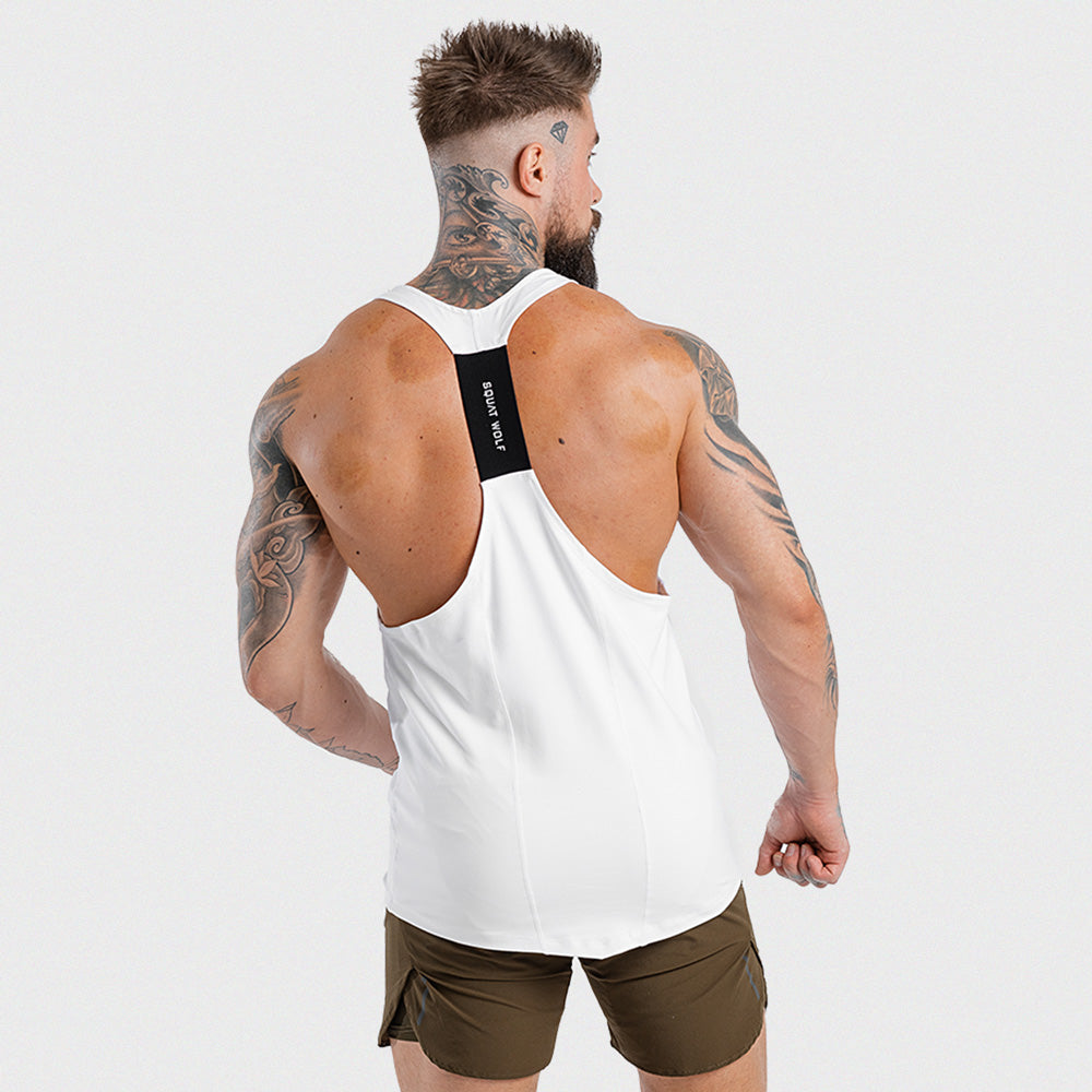 Squat Wolf Next Gen Stringer - White - Workout Crew Athletic Online