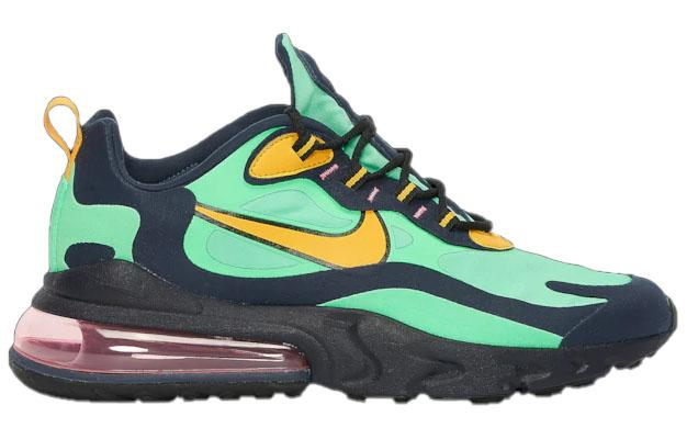Nike Mens Air Max 270 React Electro Green Yellow Ochre Obsidian
