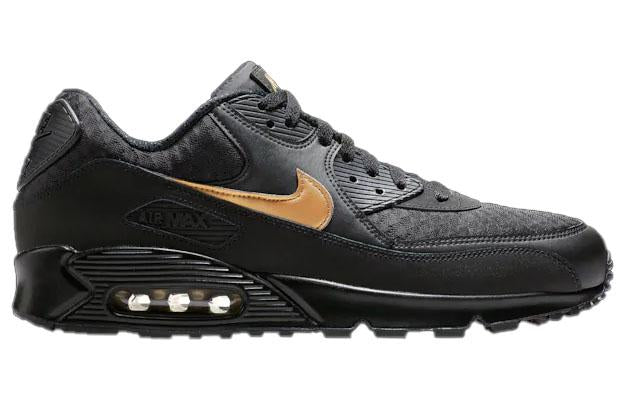 Nike Mens Air Max 90 Black Gold