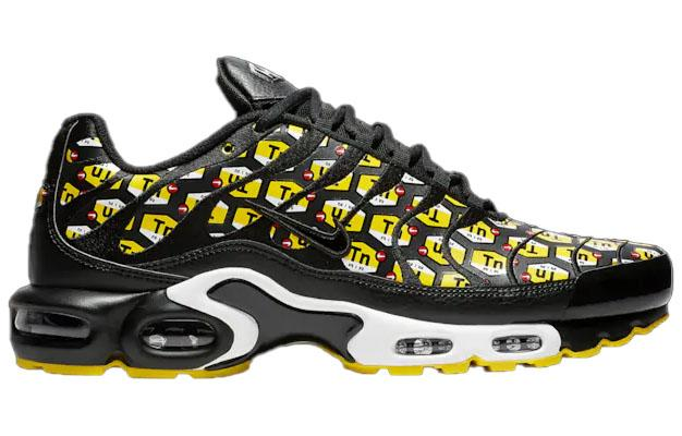 Nike Air Max Plus TN Mens Black Yellow TN Logo