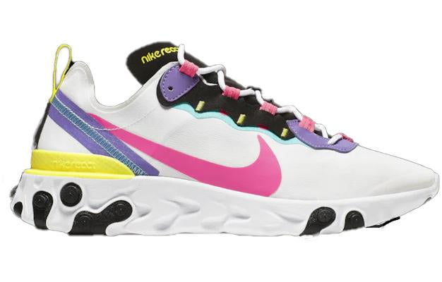 Nike React Element 55 White Hyper Pink Black Psychic Purple