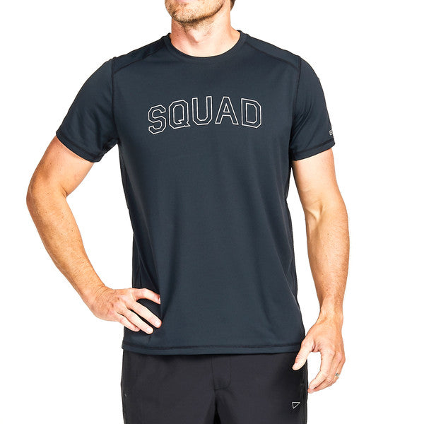 SQD Athletica - Orion Squad Tee Black - Workout Crew Athletic Online