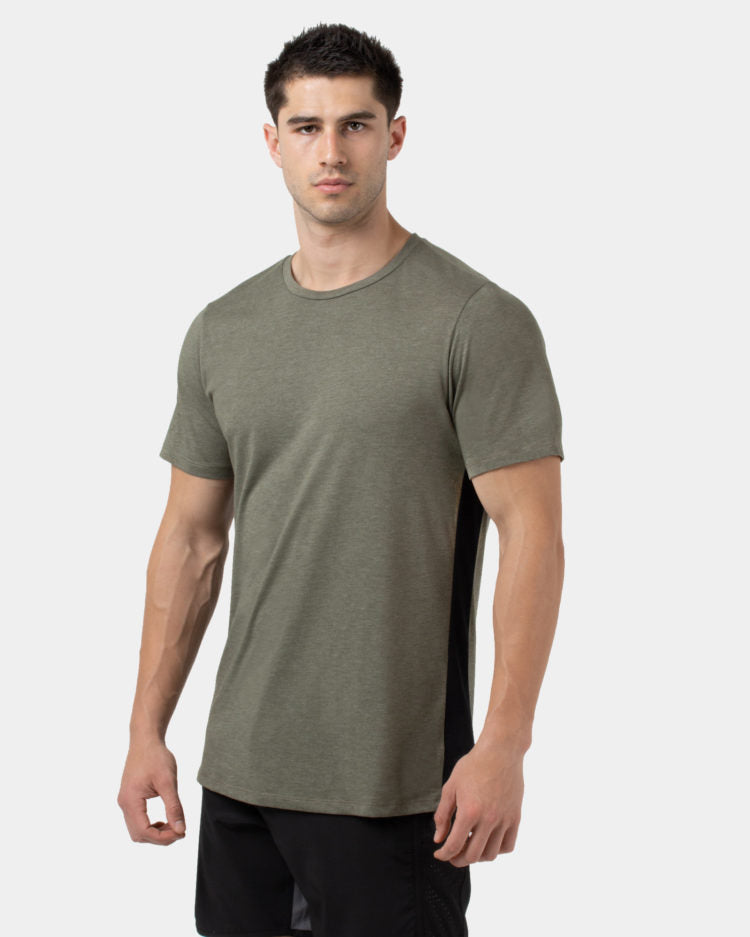 WPN. Trace Men's olive short-sleeve training t-shirt