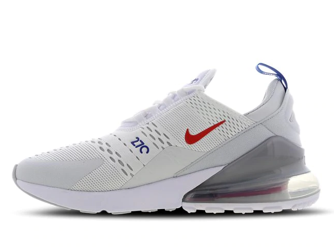 Nike Air Max 270 - White-Habanero Red-Game Royal