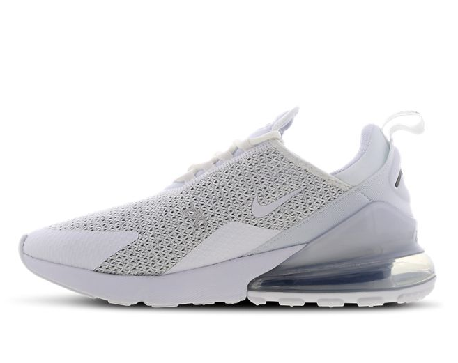 Nike Air Max 270 - White-White-Pure Platinum - Workout Crew Athletic Online