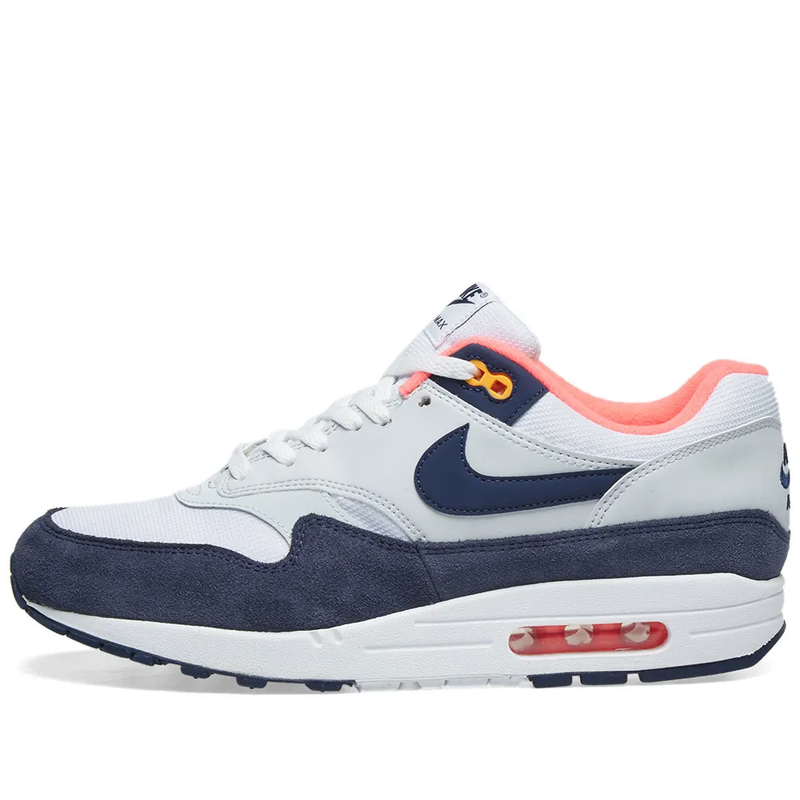 Nike Womens Air Max 1 - White, Navy, Pink & Orange