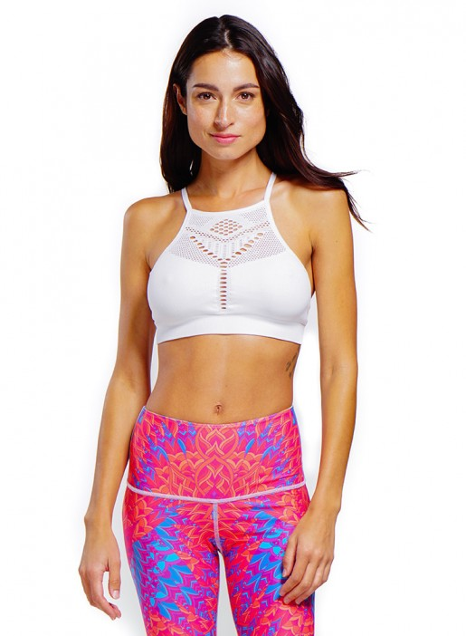 NUX Alana Bra - White - Workout Crew Athletic Online