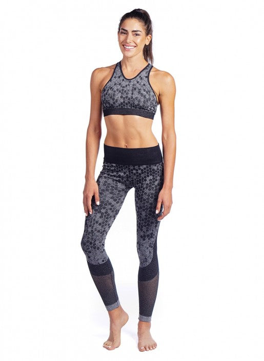 NUX Honeycomb Bra - Charcoal - Workout Crew Athletic Online