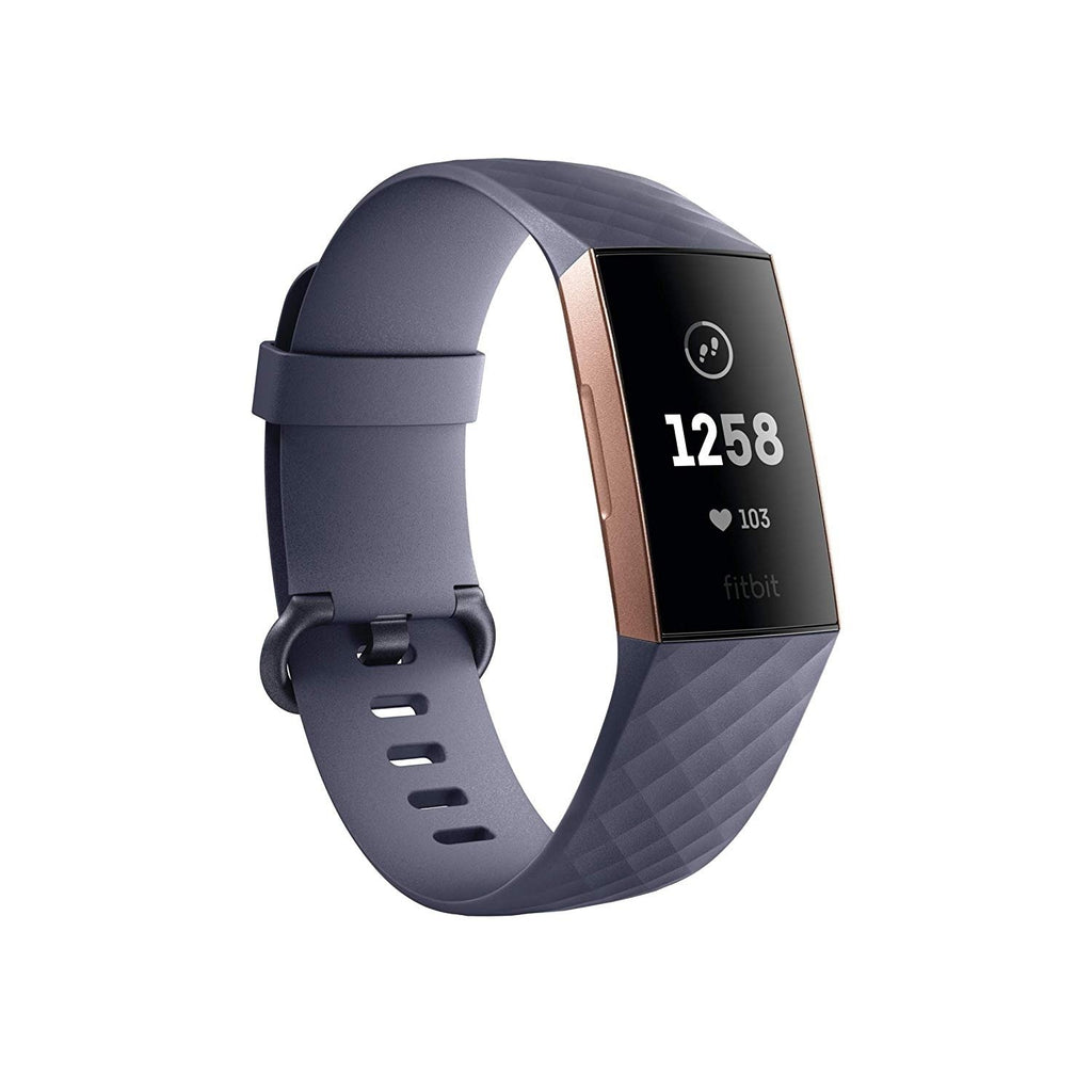 Fitbit Charge 3 Heart Rate & Activity Tracker Blue Gray/Rose Gold - Workout Crew Athletic Online
