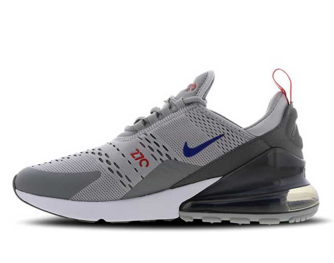 Nike Air Max 270 - Wolf Grey-Game Royal-Habanero Red - Workout Crew Athletic Online