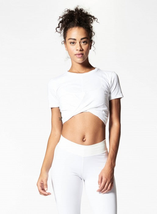 Nux All Tied Up Tee - White - Workout Crew Athletic Online