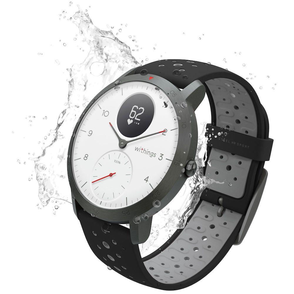 Multi-Sport Hybrid Smart Watch - Withings Nokia Steel HR Sport Black - Workout Crew Athletic Online