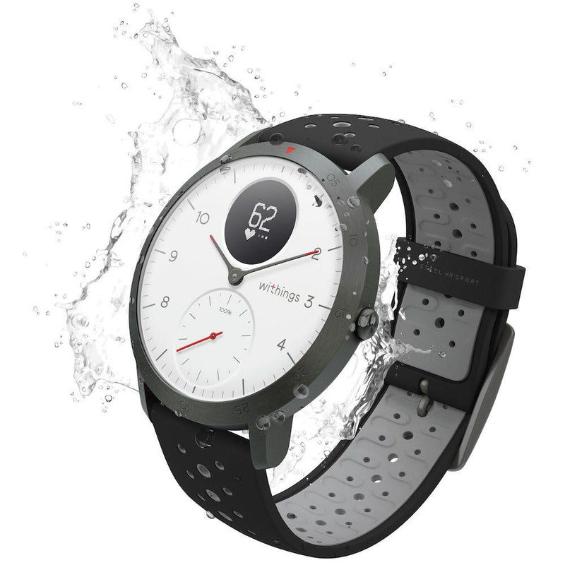 Multi-Sport Hybrid Smart Watch - Withings Nokia Steel HR Sport Black