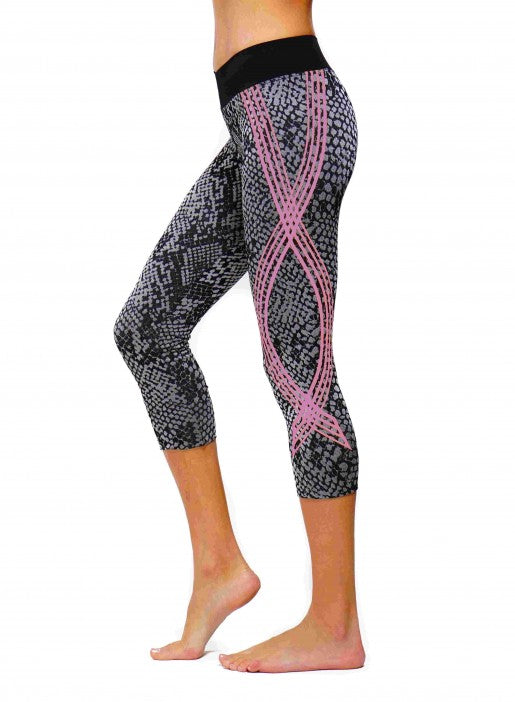 Nux Vesper Capri - Silver W/Pink - Workout Crew Athletic Online