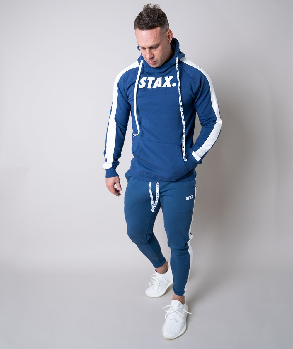 Stax. Mens Luxe Hoodie - Blue - Workout Crew Athletic Online