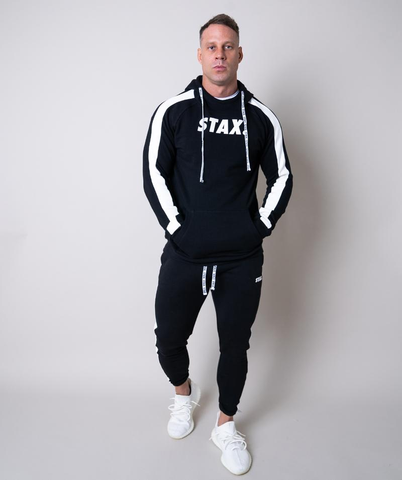 Stax. Mens Luxe Hoodie - Black - Workout Crew Athletic Online