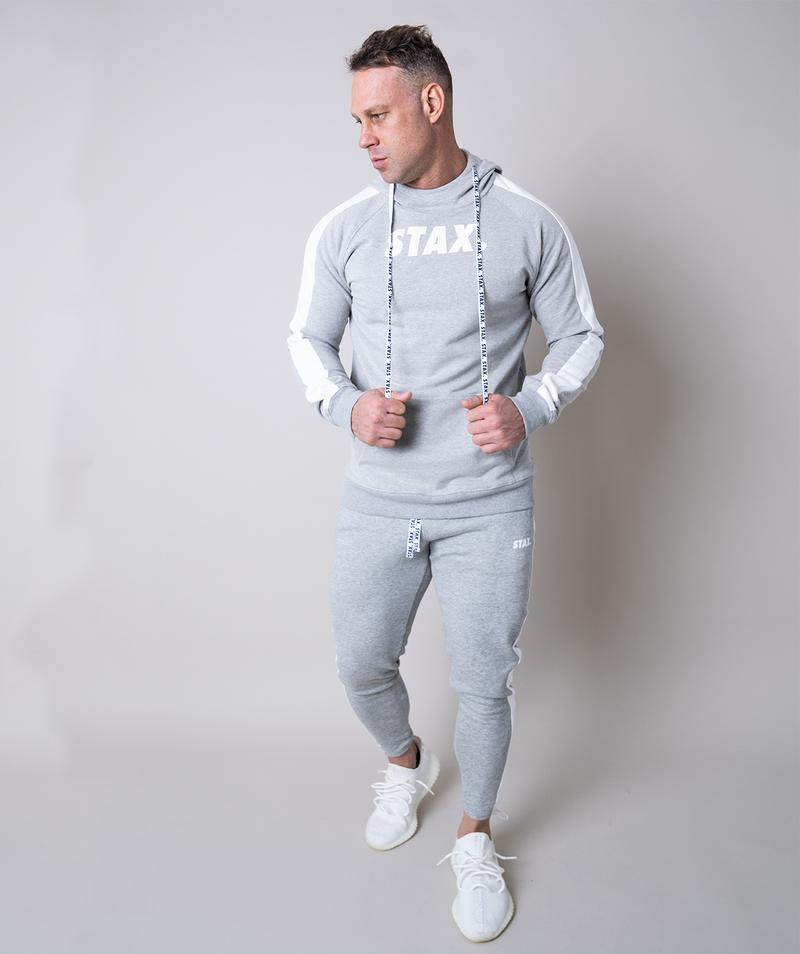 Stax. Mens Luxe Hoodie - Grey - Workout Crew Athletic Online