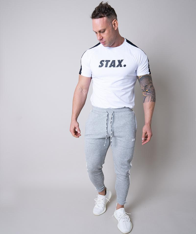 Stax. Mens Luxe Jogger - Grey - Workout Crew Athletic Online