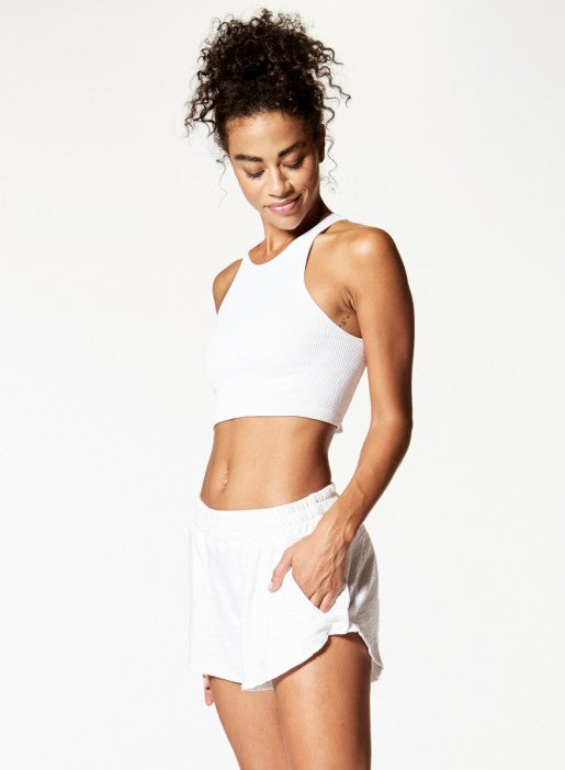 NUX RIB STEP TANK - White - Workout Crew Athletic Online