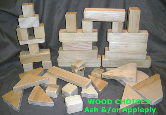 Wood Blocks (10 block set) - UnPainted