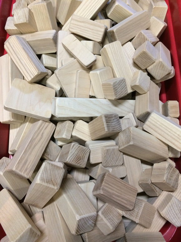 Wood Blocks (100 block set) - UnPainted